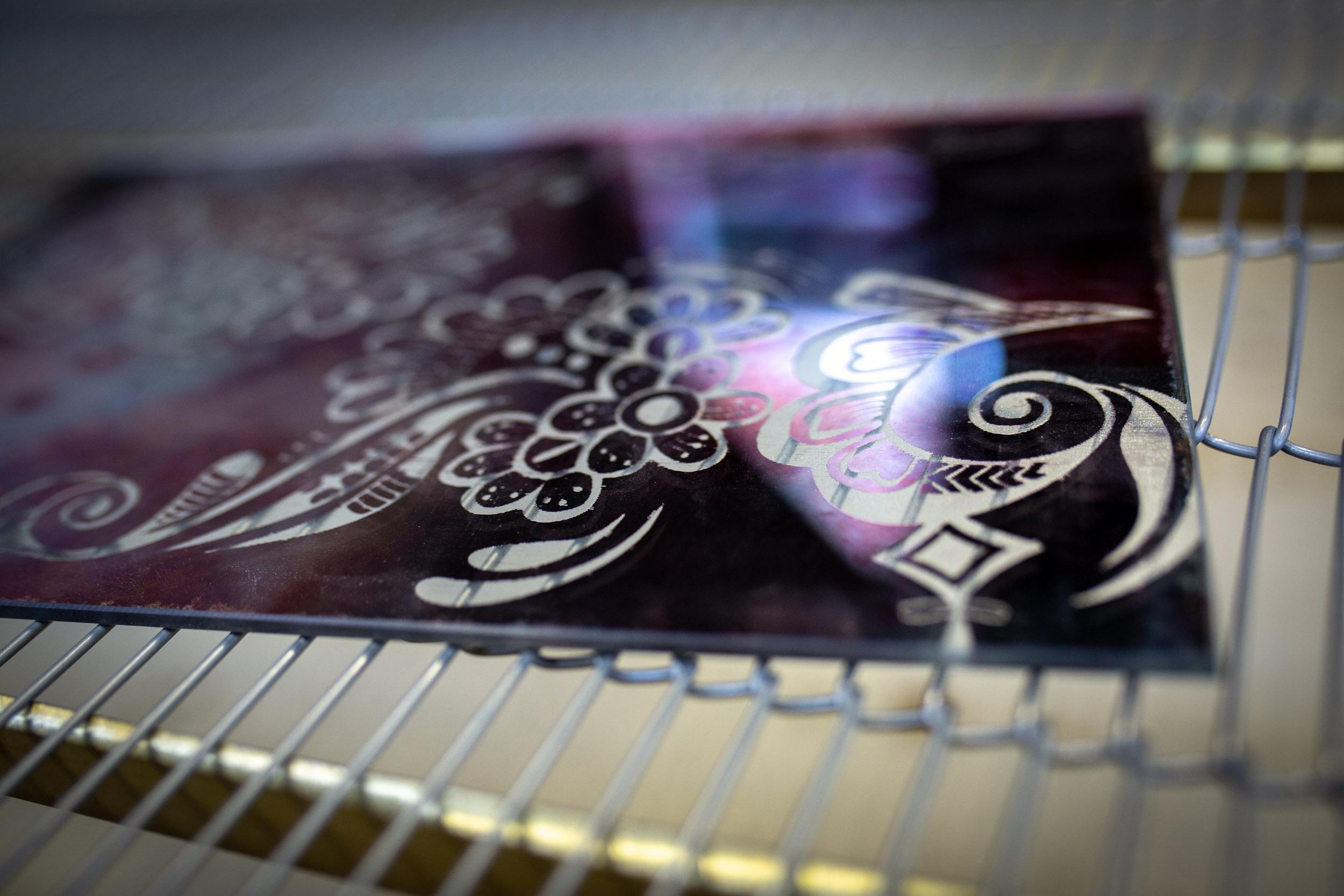 Marcatura laser vetro e specchio - Otlas