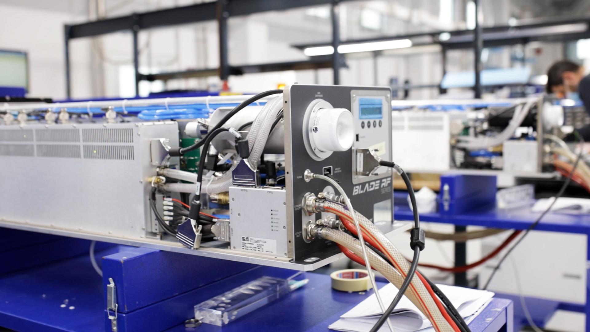La sorgente laser dei macchinari Ot-Las